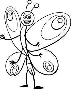 Śmieszny motylek