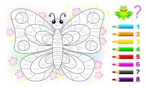 Pokoloruj motylka