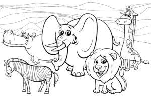 Zwierzęta na sawannie