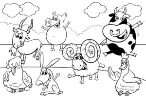 Baran, koza i świnka