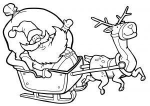 Pędzący Mikołaj i renifer