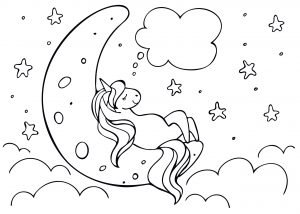 Jednorożec i księżyc