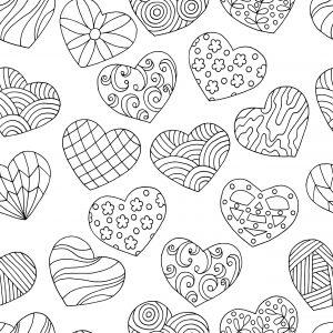 Serca w rożne wzory