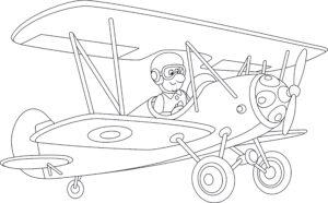 Dwupłatowiec i pilot