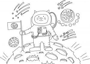 Kotek kosmonauta na księżycu