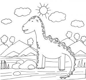 Dinozaur i słońce