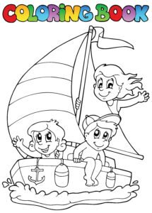 Żaglówka i dzieci