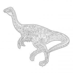 Biegnący dinozaur