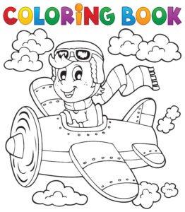 Samolot i pilot w szaliku