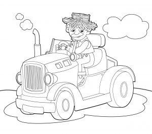 Dziadek Józef na traktorze