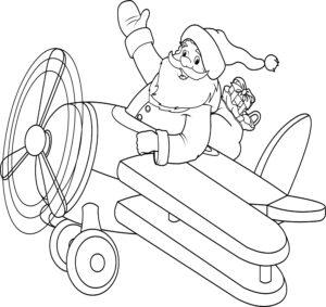 Św. Mikołaj w samolocie