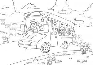 Autobus z dziećmi