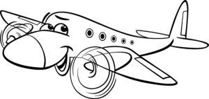 Uśmiechnięty samolot