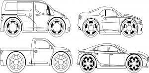 Cztery samochody
