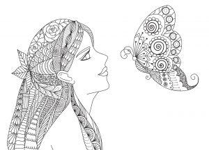Dziewczyna i motylek