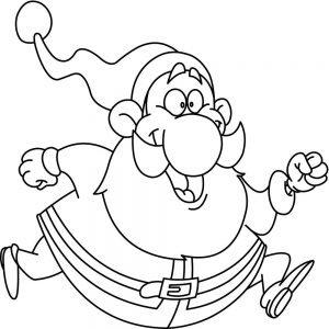 Biegnący Mikołaj
