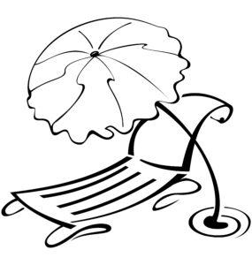 Leżak i parasol