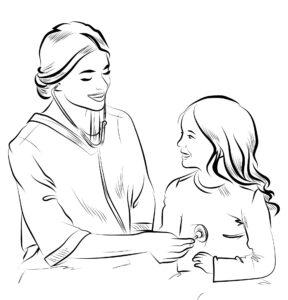 Pielęgniarka i dziecko