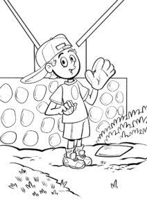 Chłopak grający w bejsbol