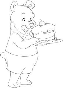 Miś i ciasto