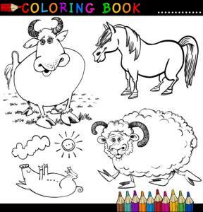 Kozioł, świnia i byczek