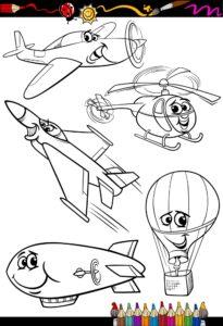 Balon, helikopter i odrzutowiec