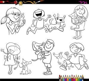 Ludzie z psami i kotami