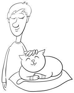 Głaszczony kotek