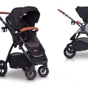 Easygo optimo air anthracite wózek do 22 kg z obracanym siedziskiem na pompowanych kołach + torba dla mamy gratis!