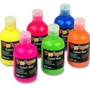 Farby fluo w butelce 300 ml. występuje 6 kolorów