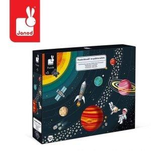 Puzzle edukacyjne układ słoneczny 100 elementów 5+, janod