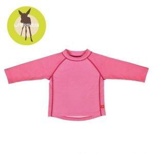 Koszulka do pływania z długim rękawem light pink, uv 50+