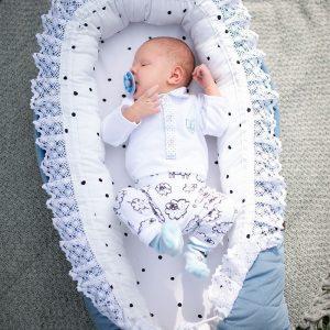 Kokon / gniazdko niemowlęce triangles jeans