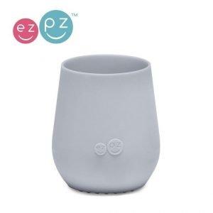 Ezpz silikonowy kubeczek tiny cup pastelowa szarość, 6 m+