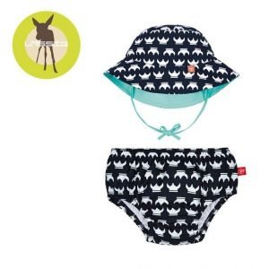 Zestaw kapelusz i majteczki do pływania z wkładką chłonną viking uv 50+, 12m+, lassig