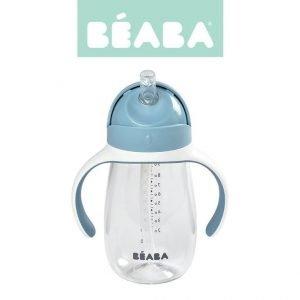 Butelka – kubek niekapek tritanowa ze słomką 300 ml windy blue, 8 m+, beaba