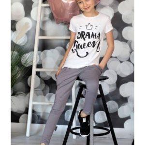 Biała koszulka drama queen