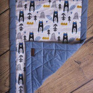 Kocyk dziecięcy triangles jeans, 100% bawełna, 50 x 70 cm