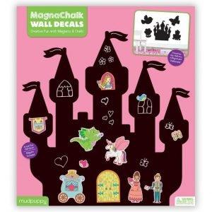 Mudpuppy naklejki magnetyczne – tablice kredowe księżniczki