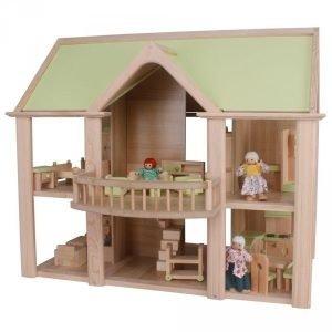 Domek z balkonem – lalki, akcesoria i meble w zestawie!