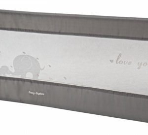 Barierka ochronna do łóżka – bramka bed rail – kolor szary