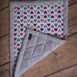 Kocyk dziecięcy triangles light grey, 100% bawełna, 50 x 70 cm