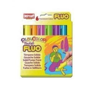 Farby w sztyfcie fluo pocket 6 kolorów
