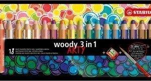 Stabilo woody 3 w 1 arty  – 18 kredek + temperówka