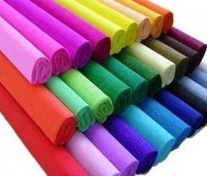 Bibuła marszczona – różne kolory