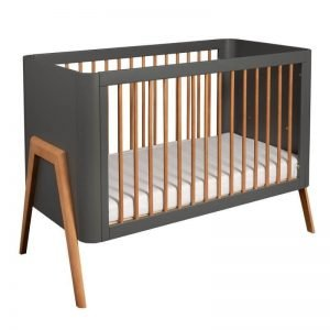Łóżeczko dziecięce torsten 120×60 troll nursery (k. ciemny szary + teak)