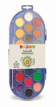 Farby wodne w pastylkach 22 kolory + pędzelek