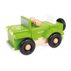 Samochód terenowy drewniany magnetyczny, janod 2+