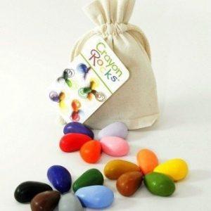 Kredki z wosku z soi w bawełnianym woreczku – 8 kolorów