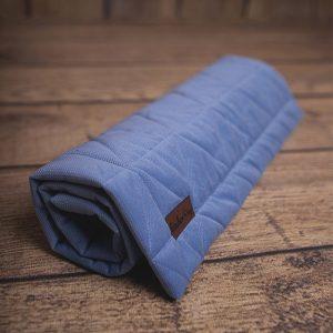 Kocyk dziecięcy triangles jeans, 100% bawełna, 100 x 70 cm